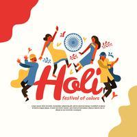 Holi Festival de ilustração vetorial colorida vetor