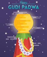 Ilustração de Gudi Padwa vetor