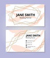 Modelo feminino do cartão de visita vetor