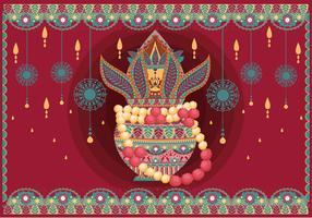 Vector de padrões de ilustração de Kalash