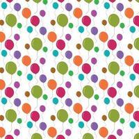 padrão sem emenda de balões coloridos vetor