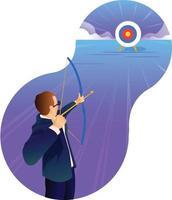 objetivo e alvo do empresário vetor