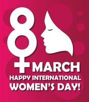 Feliz Dia Internacional da Mulher vetor