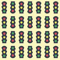 padrão sem emenda de semáforos vetor