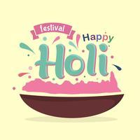feliz festival holi vetor