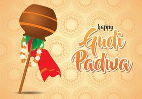 Ilustração feliz de Gudi Padwa vetor