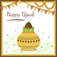 Ugadi feliz, vetor férias na Índia
