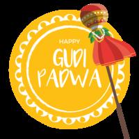 Cartão de Gudi Padwa vetor