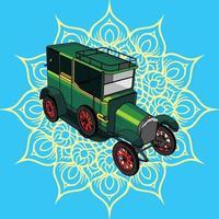 ilustração de um carro retrô