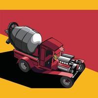 ilustração de um carro modificado