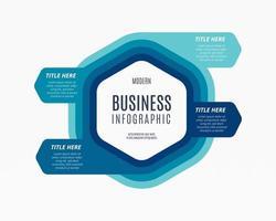 projeto de ilustração vetorial coleção infográficos negócios