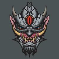 ilustração da máscara oni.