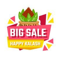 venda de kalash feliz vetor