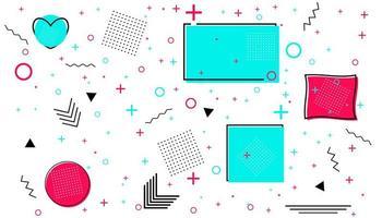 cartão de memphis com formas geométricas. design de moda de luxo - anos 80-90. vetor