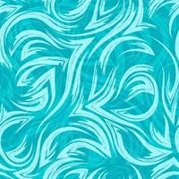 turquesa vetor padrão geométrico sem emenda de cantos de linhas fluidas e ondas na textura turquesa de background.water ou mar.