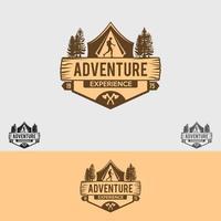 modelo de design de logotipo de aventura vetor
