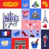 decoração super fofa em mosaico da cultura paris