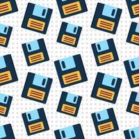 ilustração de padrão sem emenda de disquete vetor