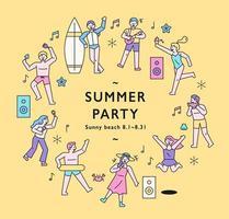 cartaz da festa de verão. vetor