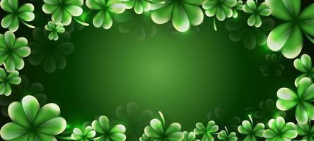 fundo do dia de São Patrício com enfeite de folhas de trevo vetor