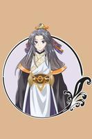 ilustração vetorial de um jovem e bonito imperador mestre do antigo reino vetor