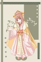 estilo anime lindo imperador consorte do antigo reino ilustração vetor