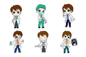conjunto médico six bundle anime chi-bi