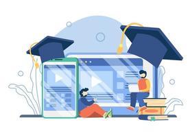 conceito de plataforma de educação online vetor