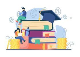 investimento em conceito de educação vetor