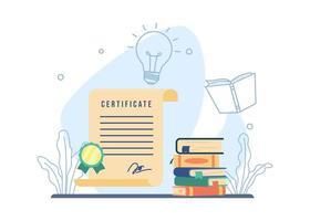 cursos e conceito de treinamento vetor