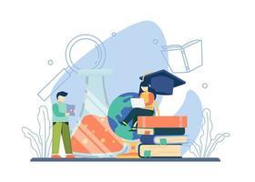 conceito de educação universitária vetor