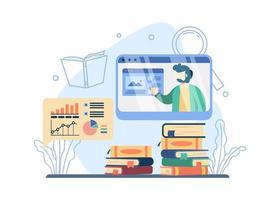 conceito de cursos online vetor