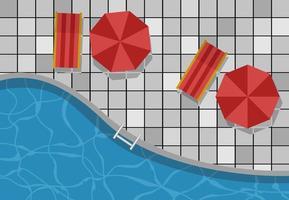 visualização do banner do modelo de fundo da piscina superior vetor