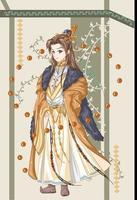 rei imperador de um antigo reino vetor