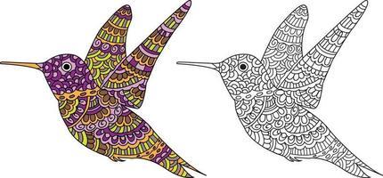 desenho de pássaro voador desenho livro para colorir para adultos e crianças