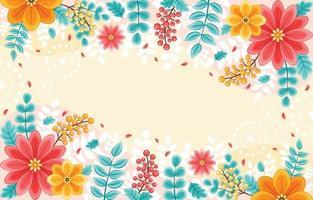 colorido e lindo fundo floral primavera vetor