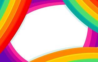 curva simples do arco-íris vetor