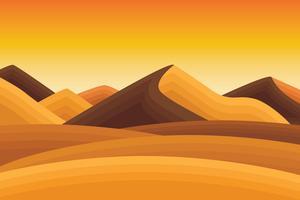 Paisagem do deserto vetor
