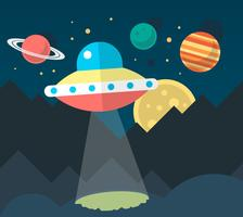 UFO plano vetor
