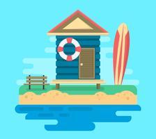 Casa de praia vetor