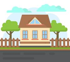 Casa da Família Flat vetor
