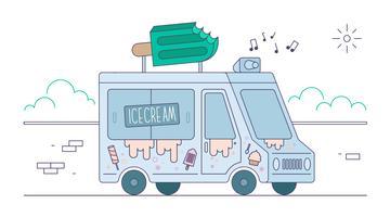 vetor de caminhão de sorvete