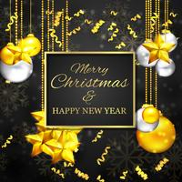 Natal ouro e cores negras vetor
