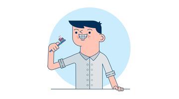 Vector de dentes de escovação