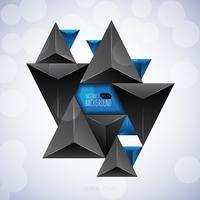 Fundo abstrato triângulo escuro