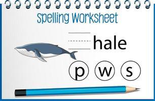 encontrar a carta que falta com a baleia