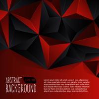 Fundo abstrato preto e vermelho vetor