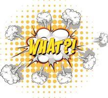 balão de fala em quadrinhos com que texto vetor