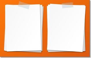 conjunto de modelo de papel autocolante vazio vetor