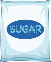 um pacote de açúcar no fundo branco vetor